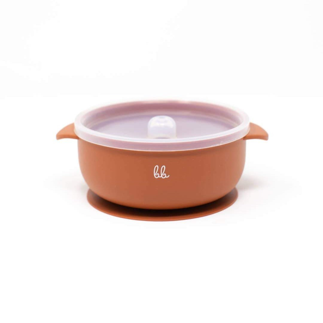 Baby Bar & Co by Three Hearts | Silicone Suction Bowl with Lid | Autumn Glaze