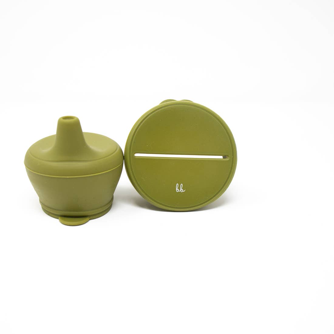 Baby Bar & Co by Three Hearts | Silicone Snack & Sippy Lid Set | Army Green