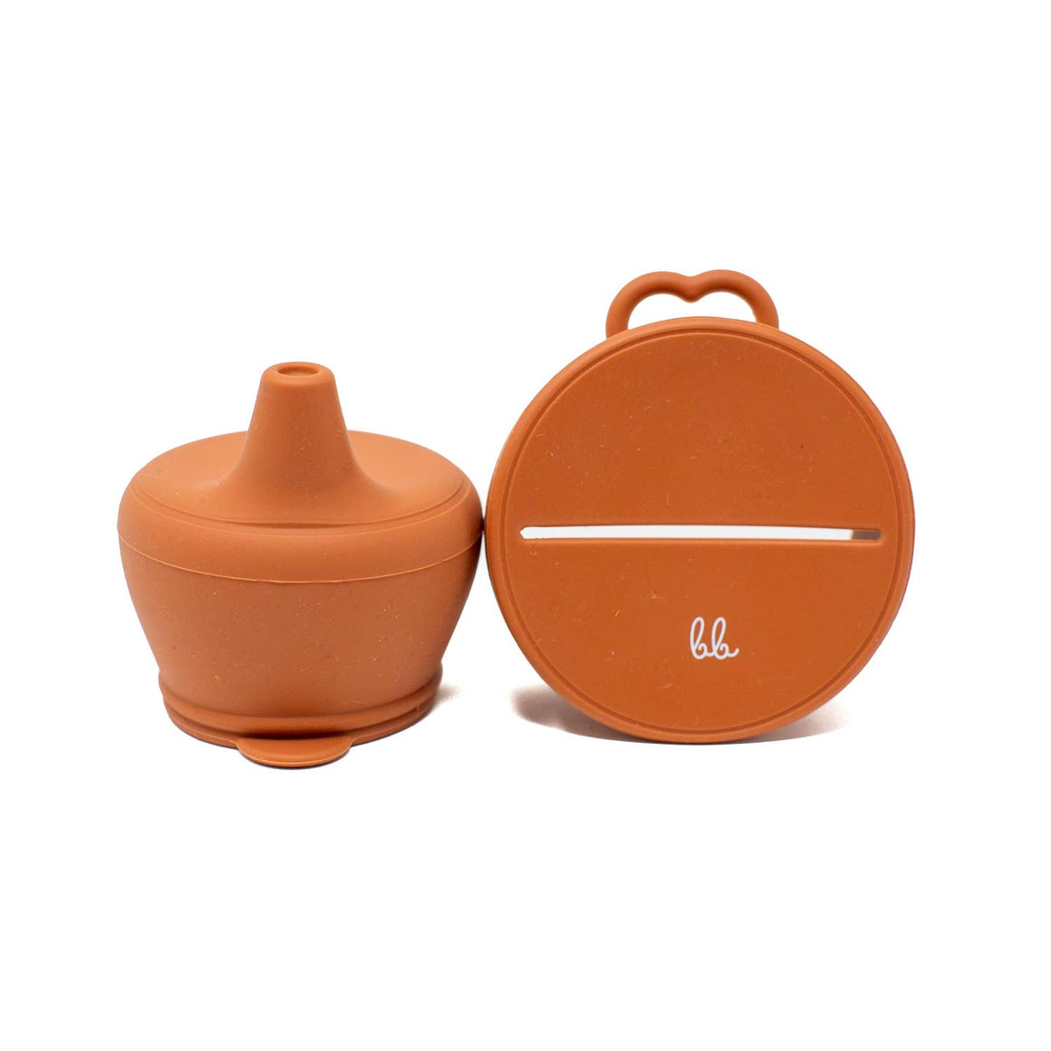 Baby Bar & Co by Three Hearts | Silicone Snack & Sippy Lid Set | Autumn Glaze