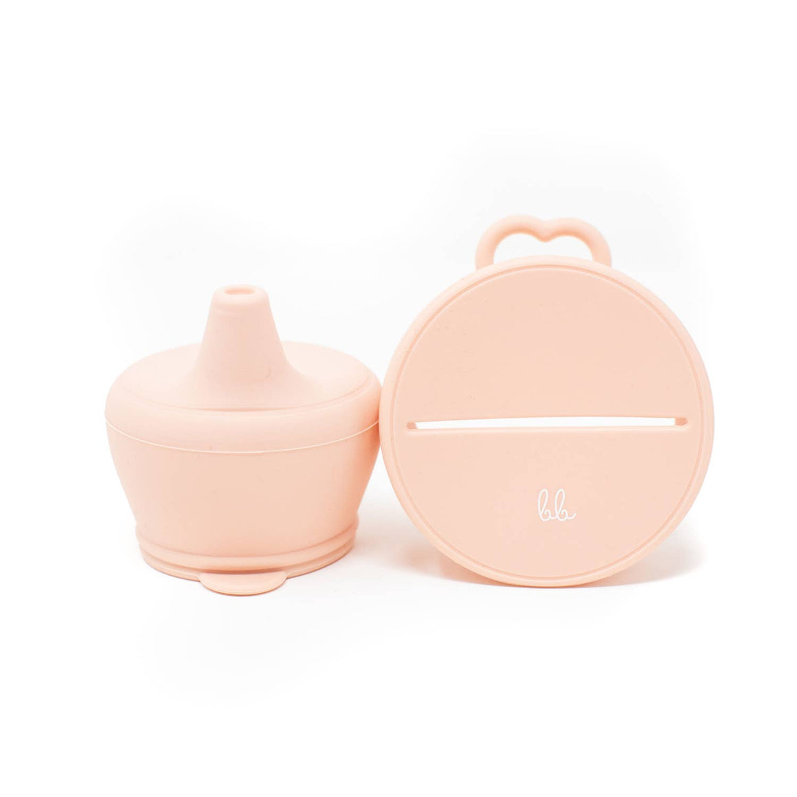 Baby Bar & Co by Three Hearts | Silicone Snack & Sippy Lid Set | Dusty Pink