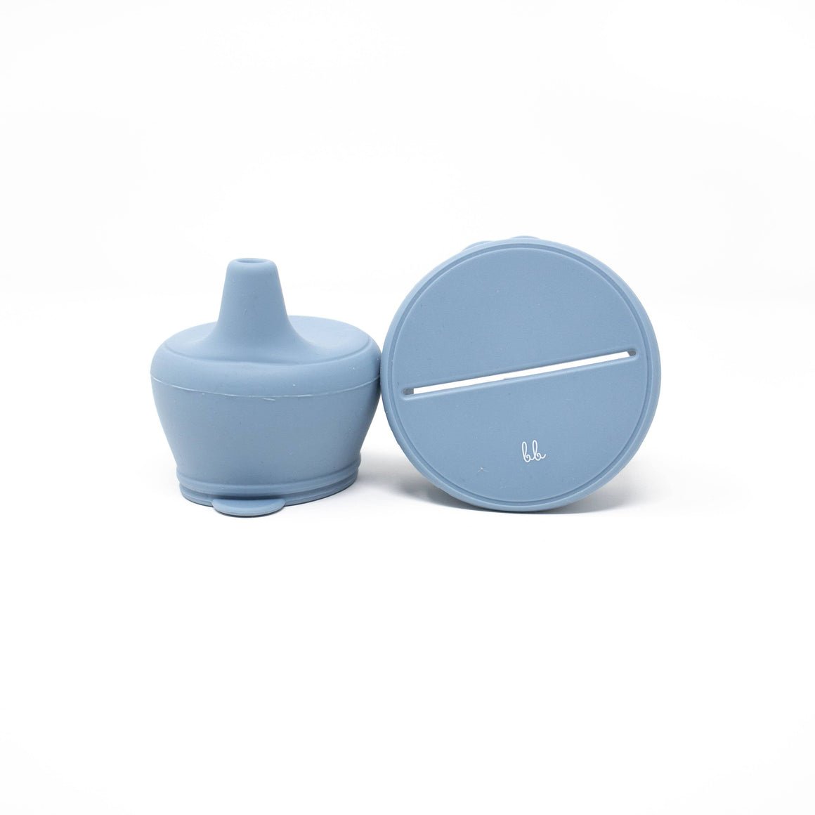 Baby Bar & Co by Three Hearts | Silicone Snack & Sippy Lid Set | Slate Blue