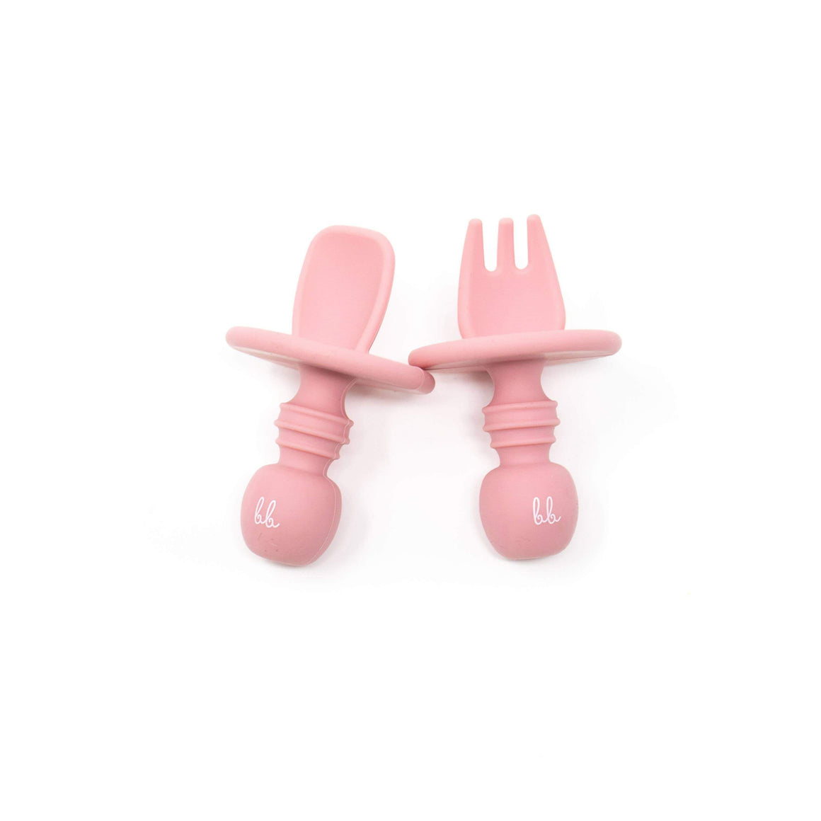 Baby Bar & Co by Three Hearts | Silicone Utensils | Dusty Rose