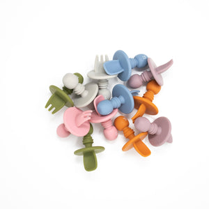 Baby Bar & Co by Three Hearts | Silicone Utensils | Army Green