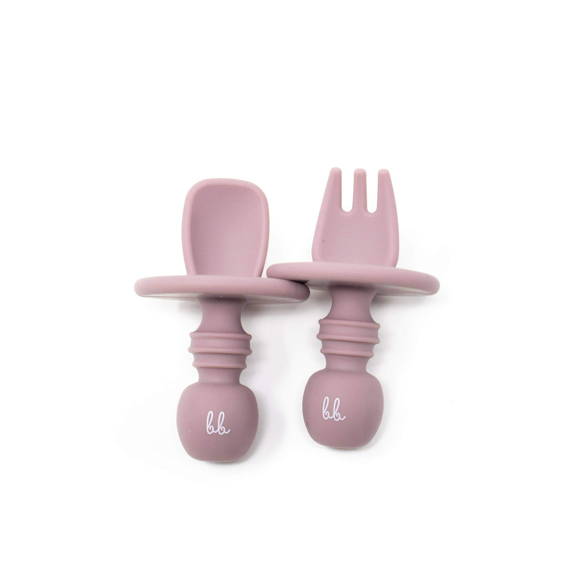 Baby Bar & Co by Three Hearts | Silicone Utensils | Mauve