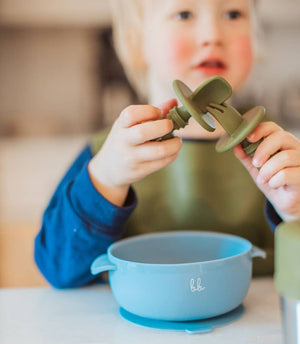 Baby Bar & Co by Three Hearts | Silicone Utensils | Taupe