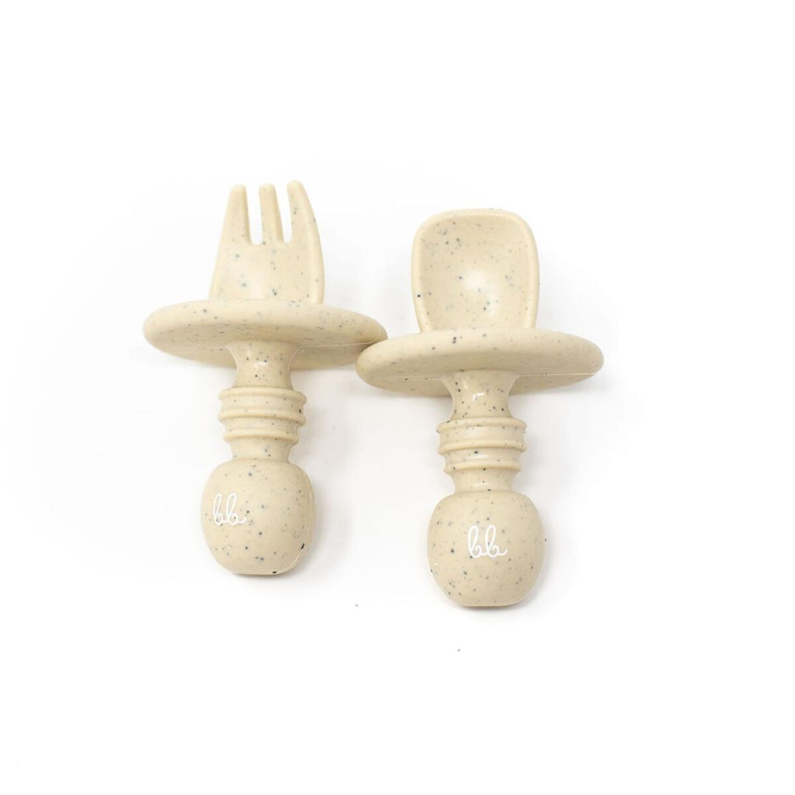 Baby Bar & Co by Three Hearts | Silicone Utensils | Navajo Beige Speckled