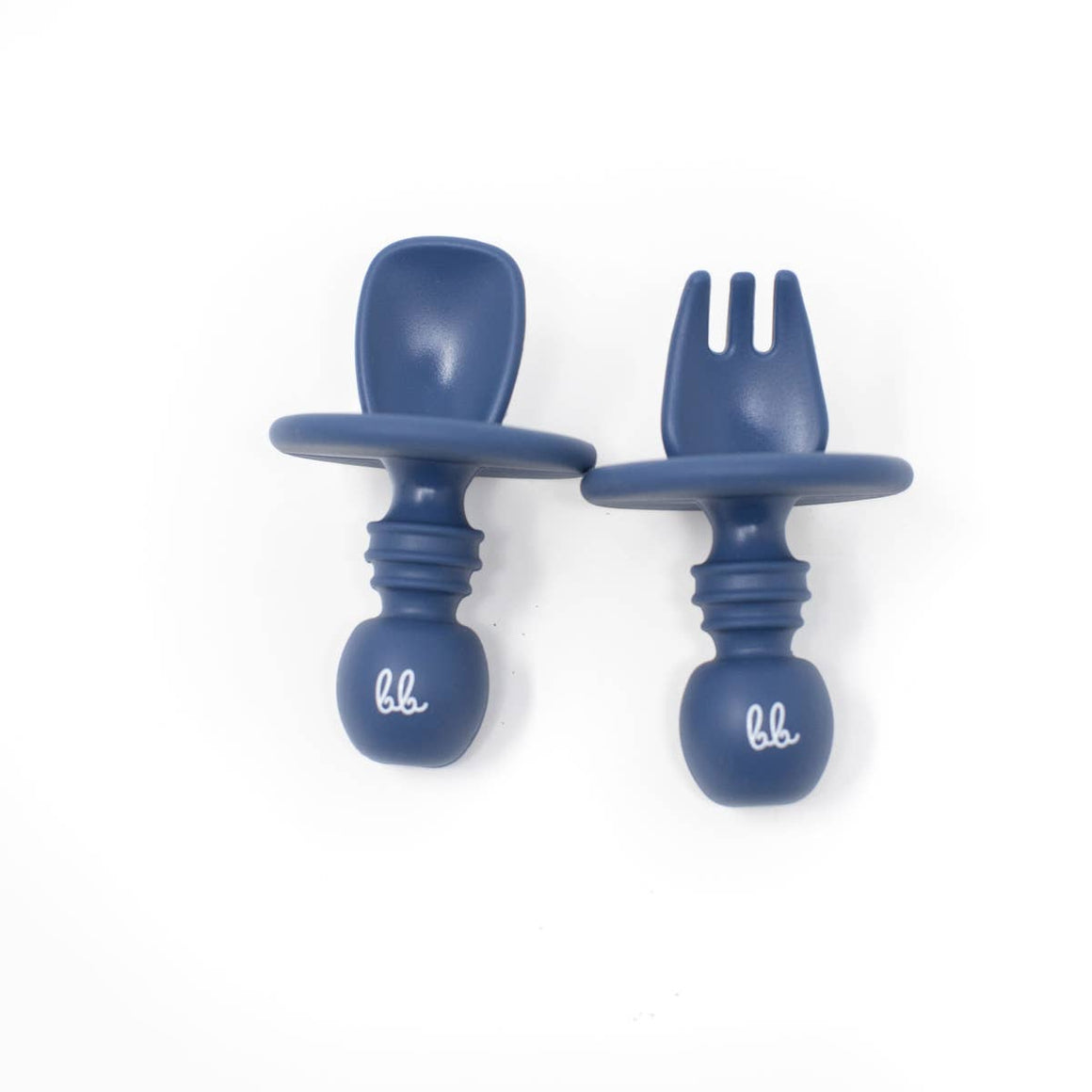 Baby Bar & Co by Three Hearts | Silicone Utensils | Navy