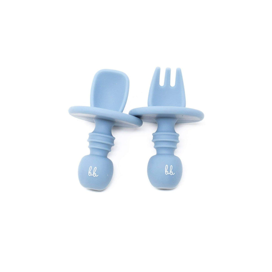 Baby Bar & Co by Three Hearts | Silicone Utensils | Slate Blue