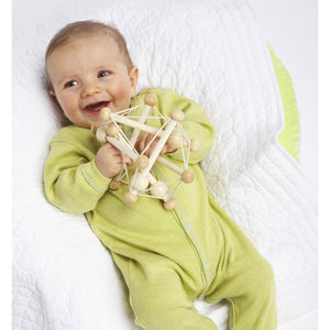 Manhattan Toy | Skwish Natural | Wooden Rattle Teether Toy