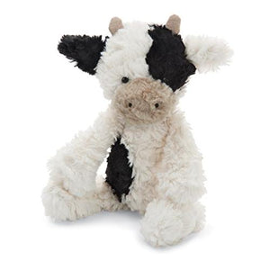 "9"" super soft and fluffly Squiggles Calf plush stuffed animal, from Jellycat."