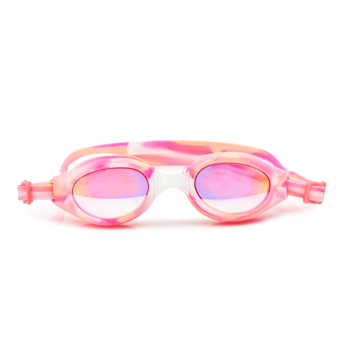 Girls Swim Goggles : Salt Water Taffy in Orange Creamsicle colorway from Bling2O