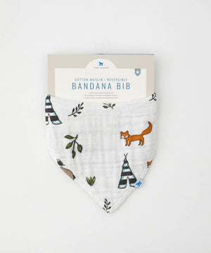Little Unicorn | Cotton Muslin Reversible Bandana Bib | Forest Friends