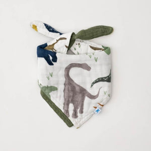 Little Unicorn | Cotton Muslin Reversible Bandana Bib | Dino Friends