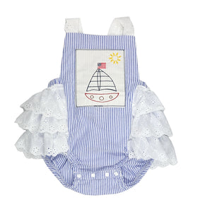Haute Baby Sail Away Baby and Toddler Girl Ruffle Bubble Sunsuit