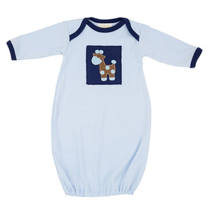 Haute Baby Baby's in Blue Take-Me-Home Newborn Infant Gown