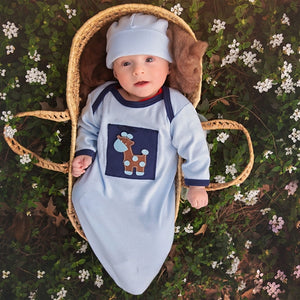 Haute Baby Baby's in Blue Coming Home Infant Gown on baby boy