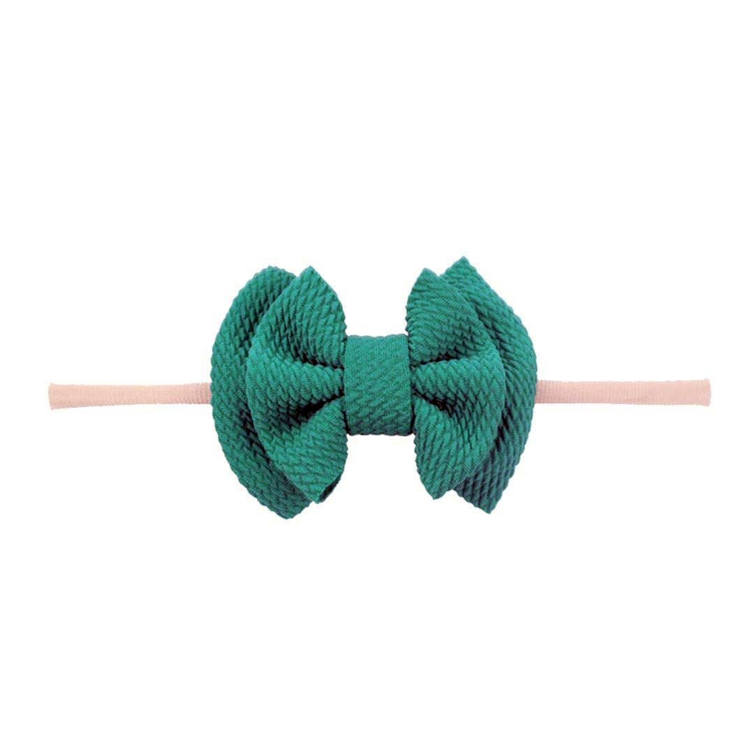 Emerson and Friends | Waffle Bow Baby Headband | Emerald