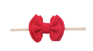 Emerson and Friends | Waffle Bow Baby Headband | Red