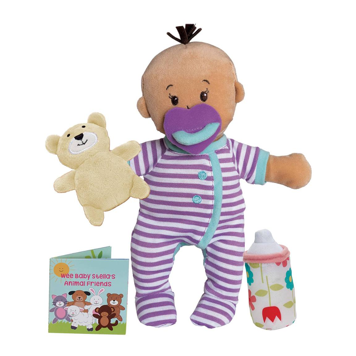 Manhattan Toy | Wee Baby Stella Beige Soft Plush Baby Doll | Sleepy Time Scents Set