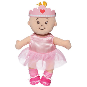 Manhattan Toy | Wee Baby Stella Peach Soft Plush Baby Doll | Tiny Ballerina Set