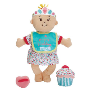Manhattan Toy | Wee Baby Stella Peach Soft Plush Baby Doll | Sweet Scents Birthday Set