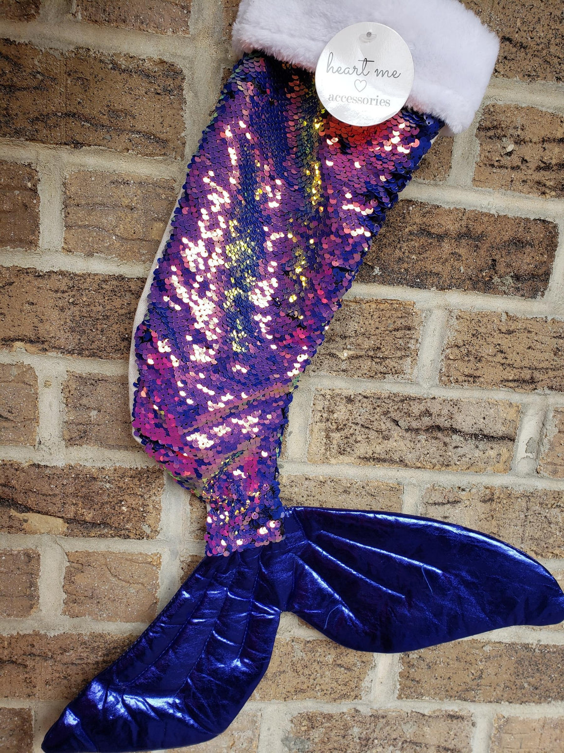 Mermaid Stocking | Reverse Blue Sequin