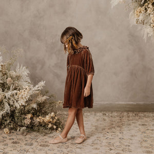 Noralee | Adeline Velvet Dress | Wine