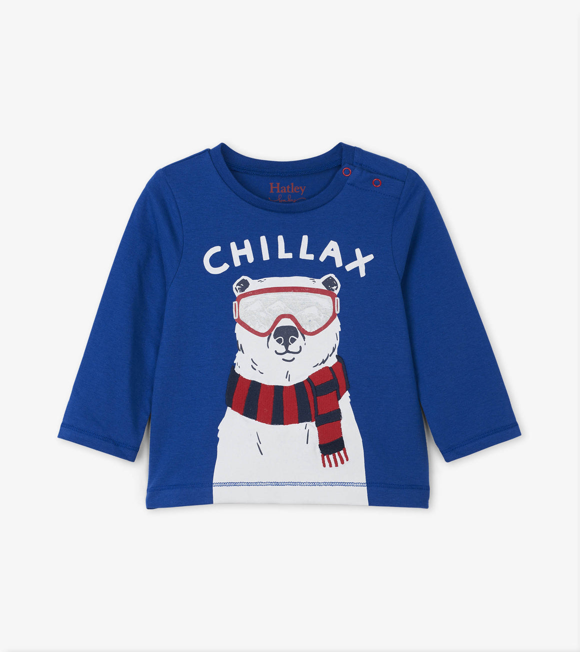 Hatley Kids Baby and Toddler Boys Chill Bear Long Sleeve Tee
