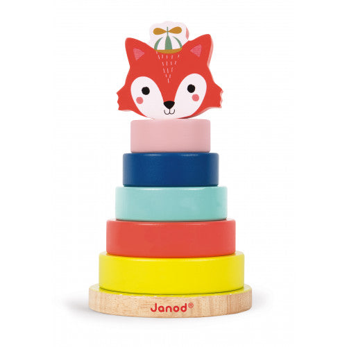 Janod | Wooden Baby Forest Fox Stacker