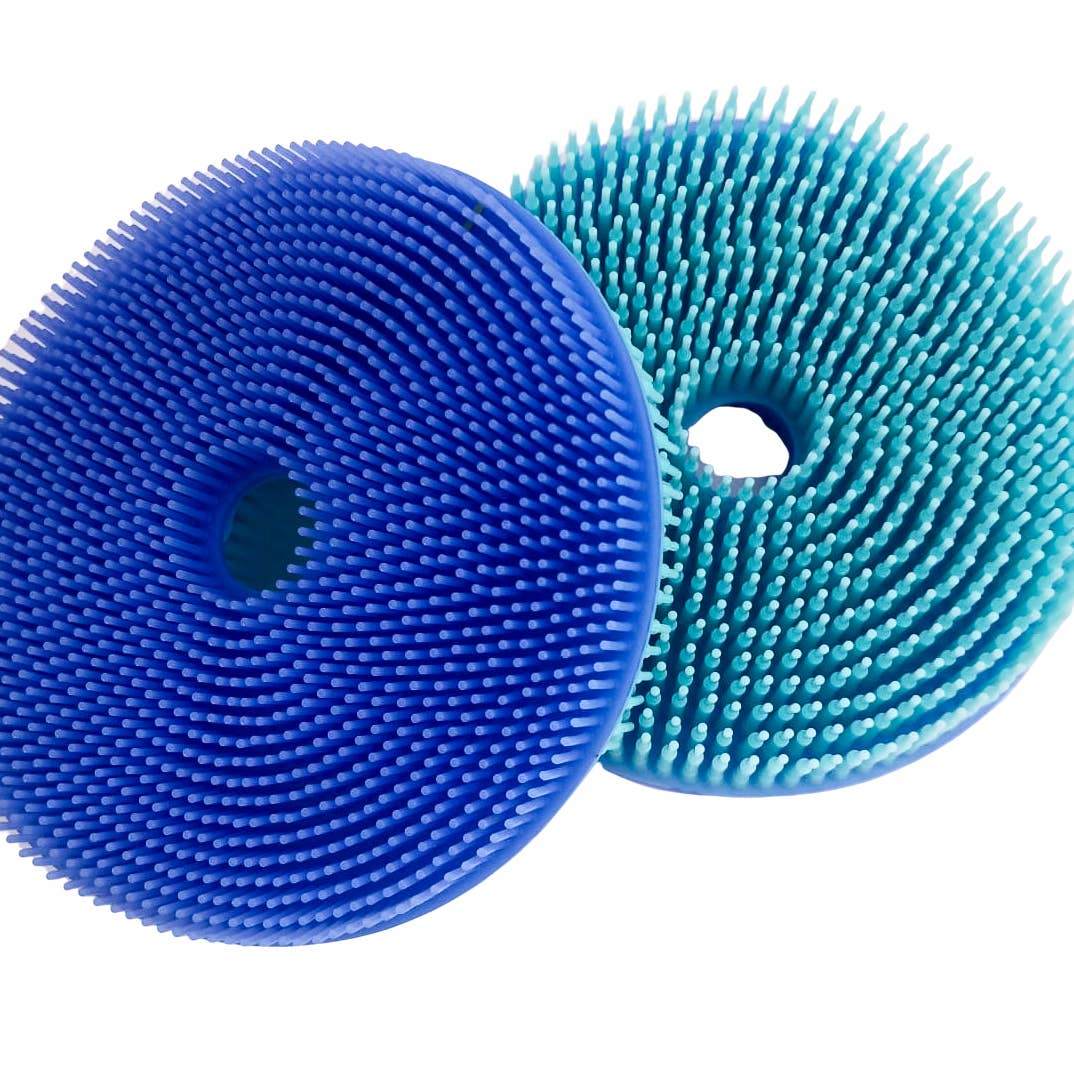 Squigee | Silicone Bath Circle | Aqua and Blue