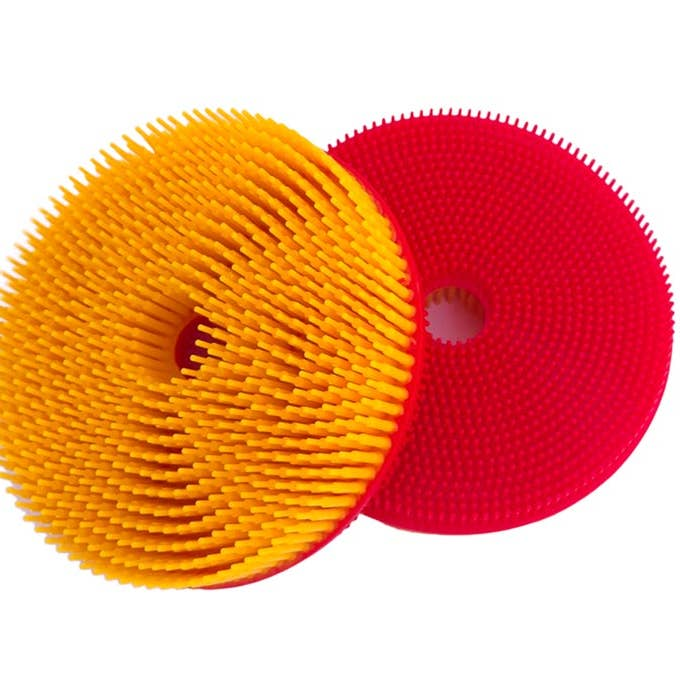 Squigee | Silicone Bath Circle | Red and Yellow