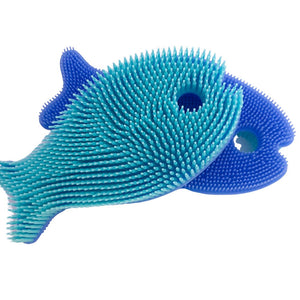 Squigee | Silicone Bath Fish | Aqua and Blue