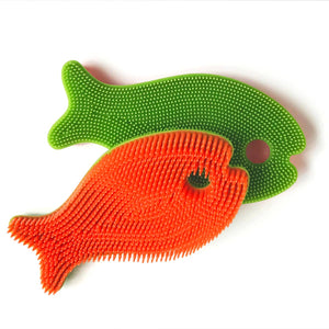 Squigee | Silicone Bath Fish | Orange and Green