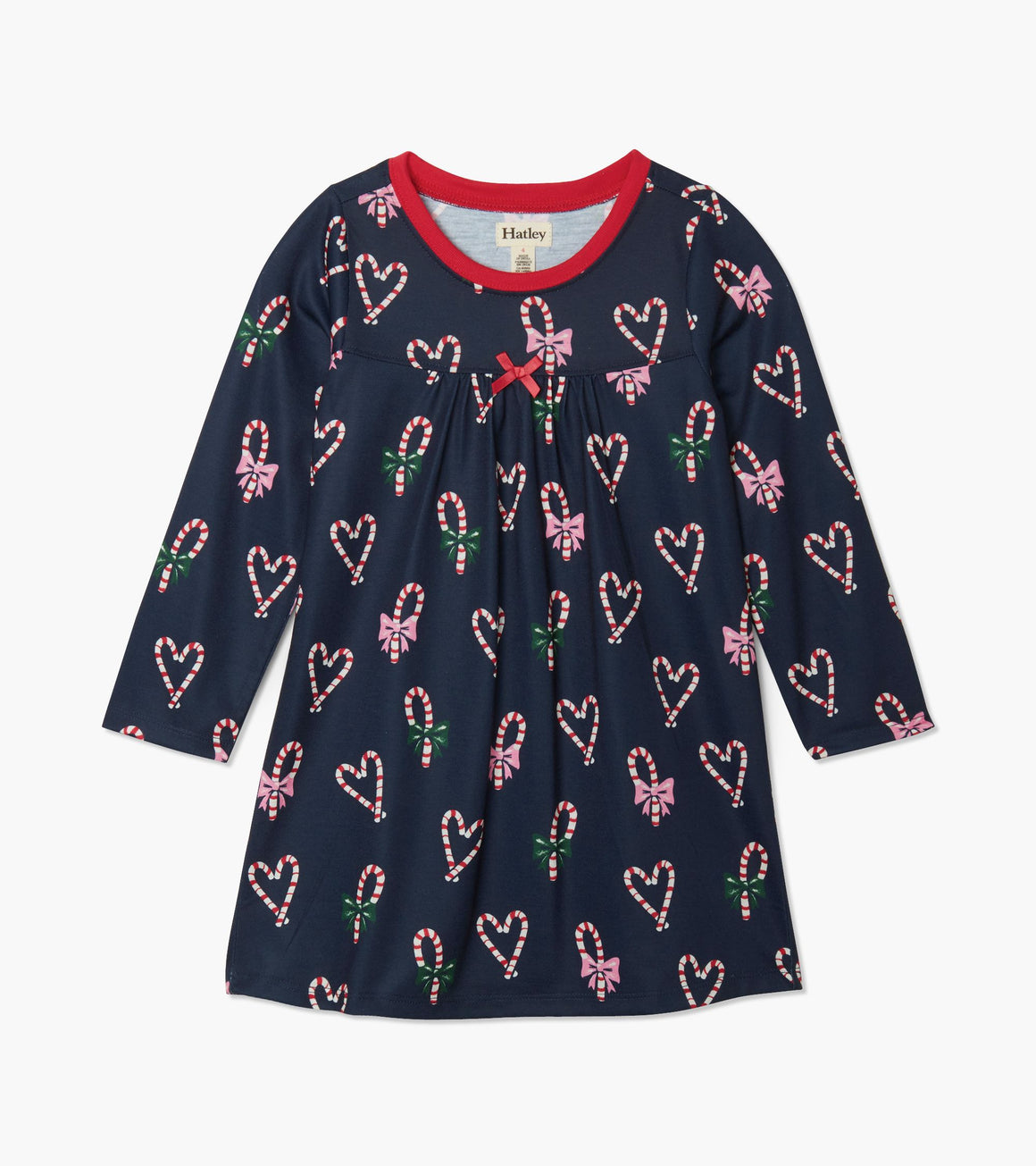 Hatley | Candy Cane Hearts Long Sleeve Night Gown