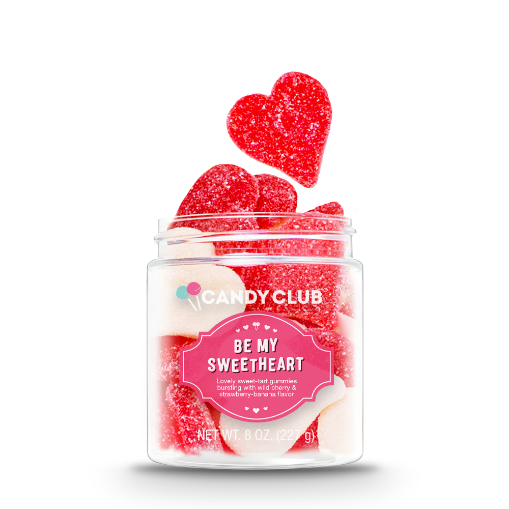 Candy Club Be My Sweetheart -- Lovely sweet tart gummies bursting with wild cherry and strawberry banana flavor