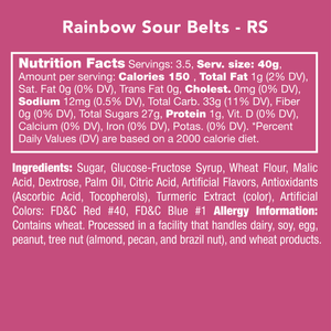 Candy Club | Rainbow Sour Belts
