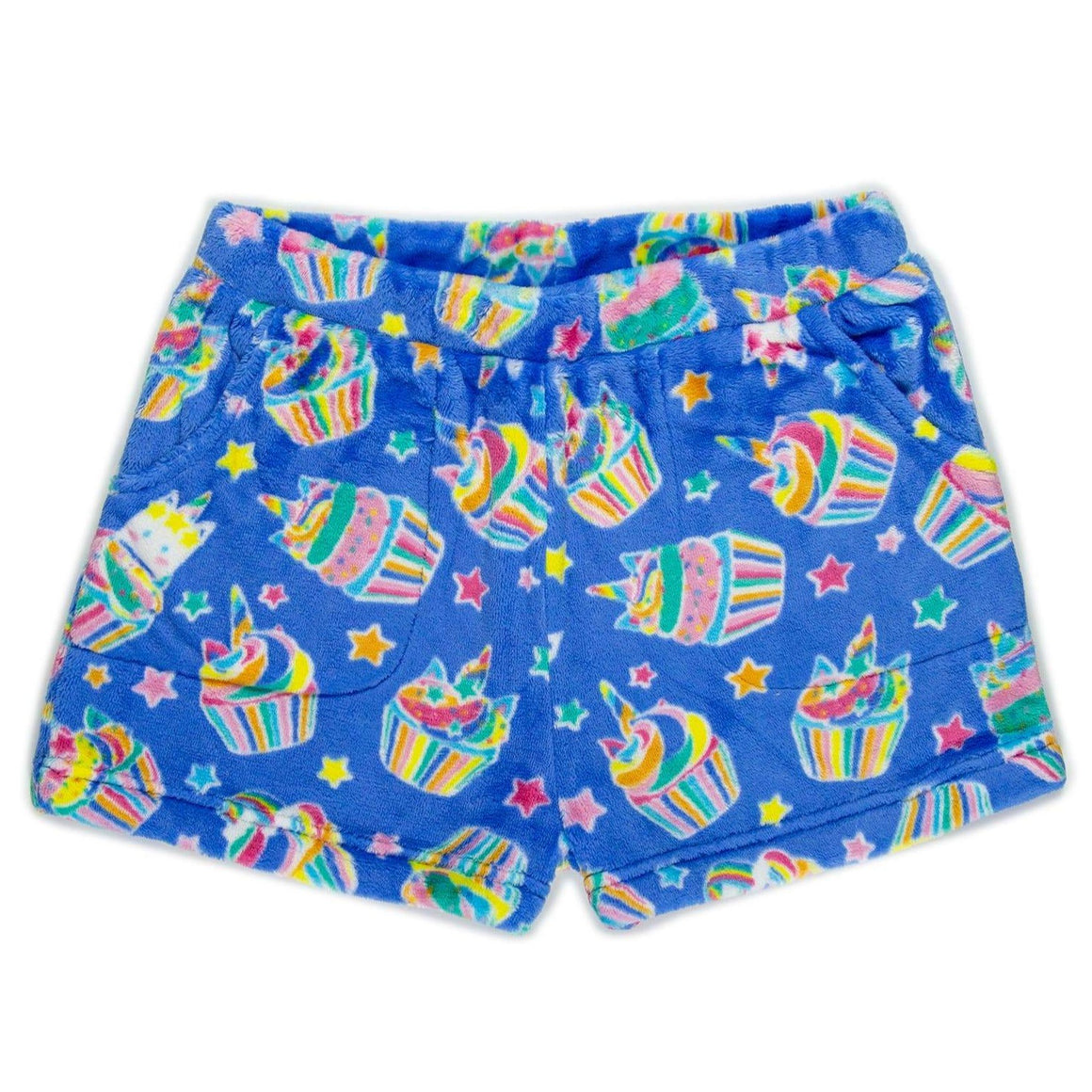 Candy Pink Girls | Plush Unicorn Cupcake Lounge Short