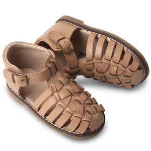 Consciously Baby | Leather Indie Sandal | Tan Hard Sole - COMING SOON