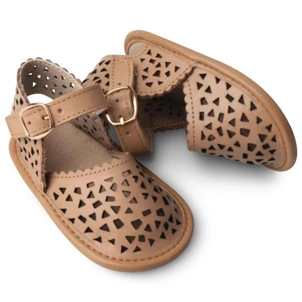 Consciously Baby | Leather Pocket Sandal | Tan Soft Sole - COMING SOON
