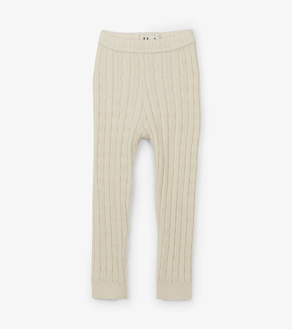 Hatley | Cream Cable Knit Baby Footless Tights
