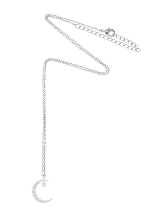 (NEW) Estella Bartlett | Moon & Star Necklace | Silver Plated