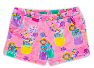 (NEW) Candy Pink Girls | Plush Milkshake Lounge Short
