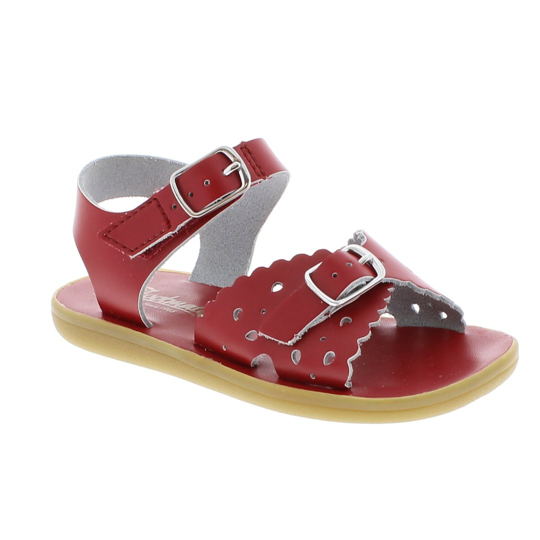 Footmates | 'Ariel' Leather Sandal | Apple Red