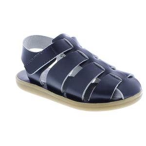 Footmates | 'Captain' Leather Sandal | Navy