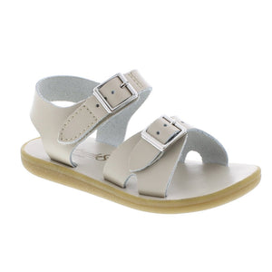 Footmates | 'Tide' Leather Sandal | Ecru