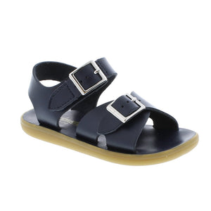 Footmates | 'Tide' Leather Sandal | Navy