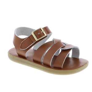Footmates | 'Wave' Leather Sandal | Tan