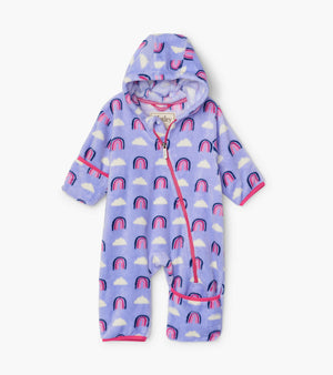 Hatley | Happy Rainbows Fuzzy Fleece Baby Bundler