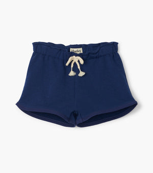 Hatley | Navy French Terry Paper Bag Shorts