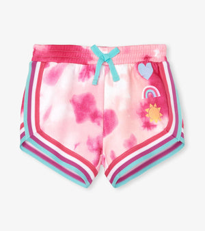 Hatley | Pink Tie Dye French Terry Jogging Shorts